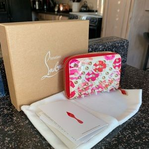 Christian Louboutin pink coin purse wallet
